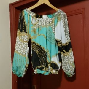 Long Sleeve Multi-Colour Long Sleeve Blouse SZ  S/